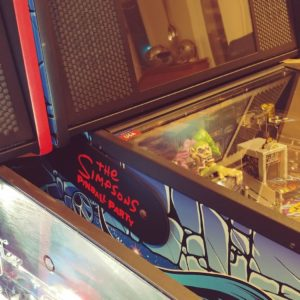 The Simpsons Pinball Party pinball hinges