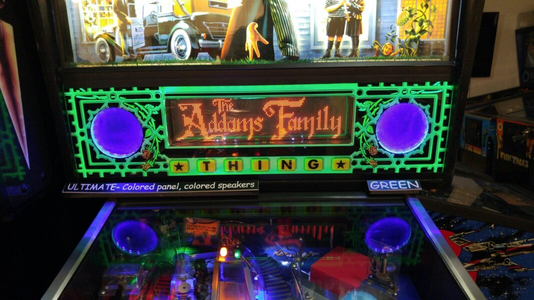 The Addams Family Ultimate Lighted Speaker Panel - Lighted Pinball Mods