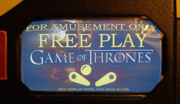 Game of Thrones Pinball EL Panel