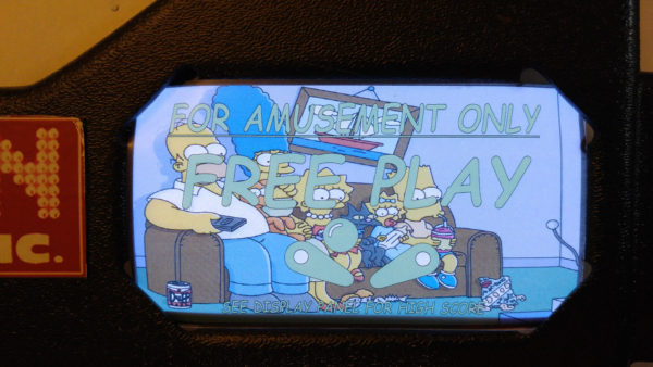Simpsons Pinball EL Panel