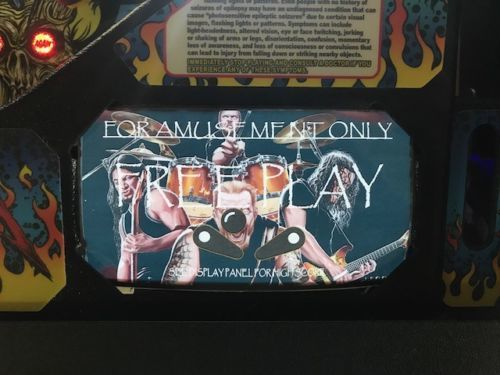 Metallica Pinball EL Panel