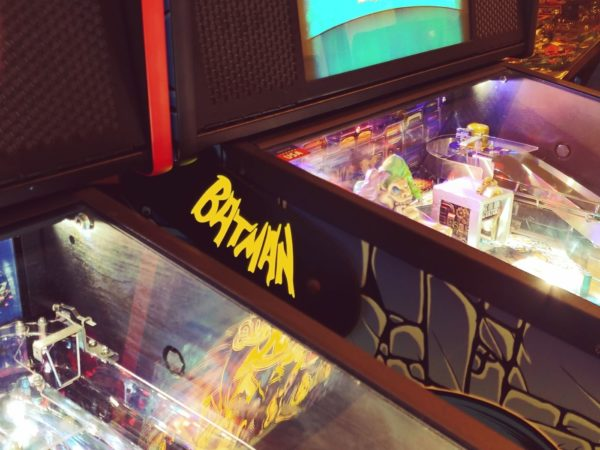 Batman pinball hinges