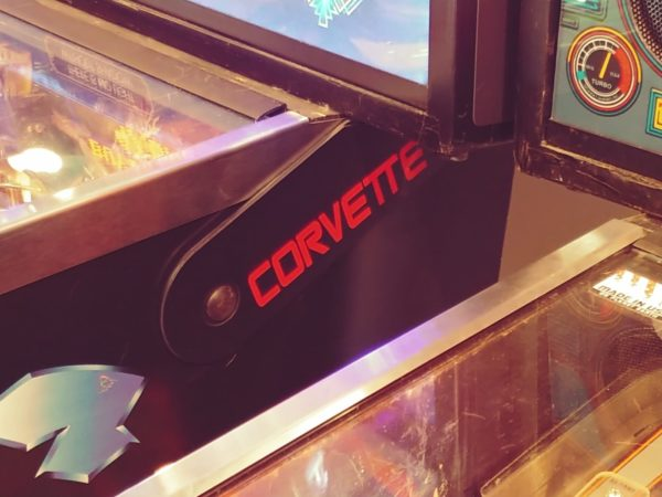 Corvette pinball hinges