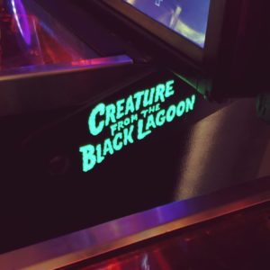 Creature from the Black Lagoon pinball hinges