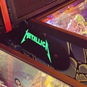 Metallica custom pinball hinges
