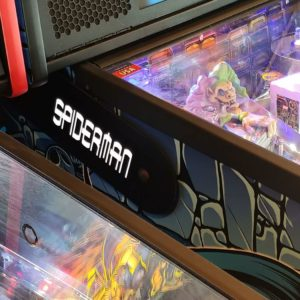 Spiderman pinball hinges