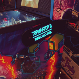 Terminator 3 pinball hinges