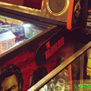 The Walking Dead custom pinball hinges