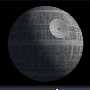 star wars pinball topper death star
